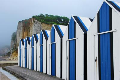 Umkleidekabinen in der Normandie