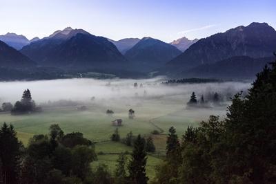 Morgennebel im Stillachtal (Kleines Walsertal)