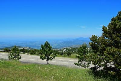 Paßstrasse zum Mont Ventoux