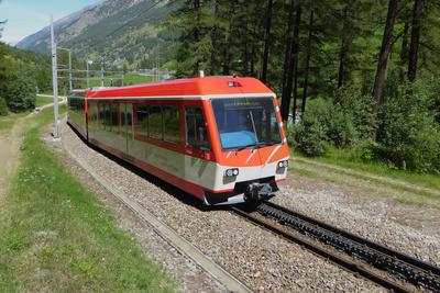 Zahnradhilfe für die Matterhorn-Gotthard-Bahn