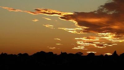 Abendhimmel über Yorkshire