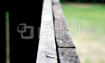 Oberseite Zaun mit Unschärfe