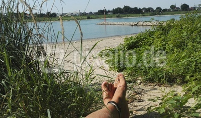Chillen am Rheinufer
