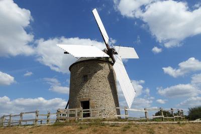 Restaurierte historische Mühle