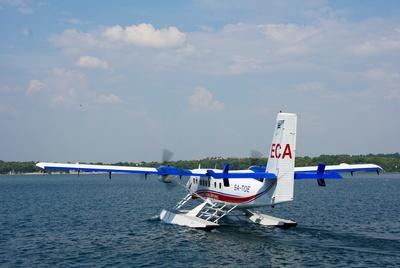 Wasserflugzeug am Start
