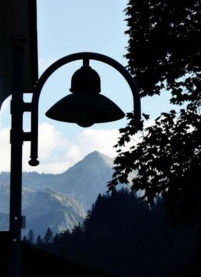Lampe am Haus