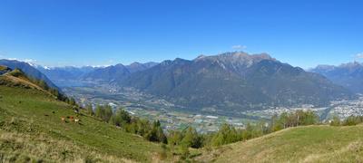 Panorama vom Trans Swiss Trail aus