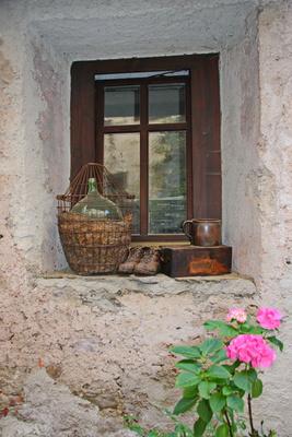 rustikale Fensterdeko