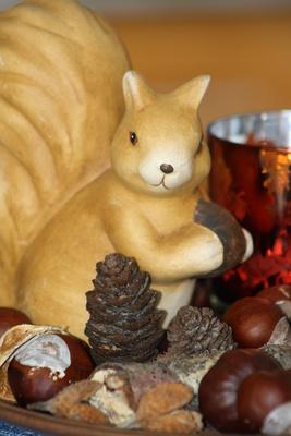Eichhörnchen-Deko