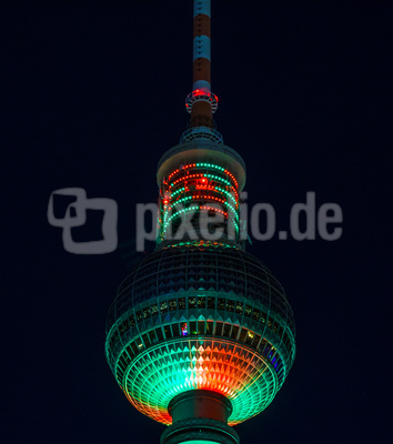 Colorierte Turmkugel