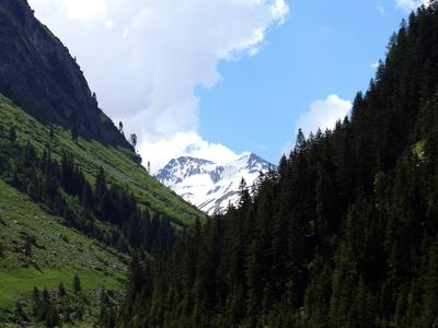 Hochoben im Gebirge