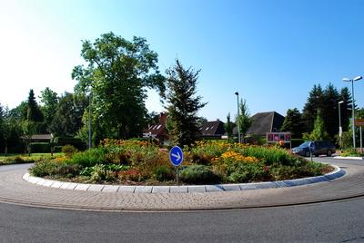 Gepflegter Kreisverkehr in Hage