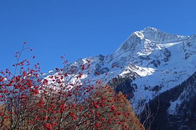 Bietschhorn zwischen Herbst und Winter
