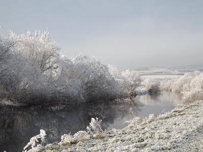 Die Unstrut im Winter