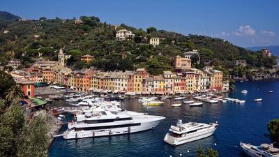 Malerischer Blick auf Portofino