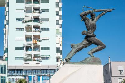 Denkmal der Partisanen in Durres - Albanien