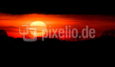 Sonnenball im Gegenlicht