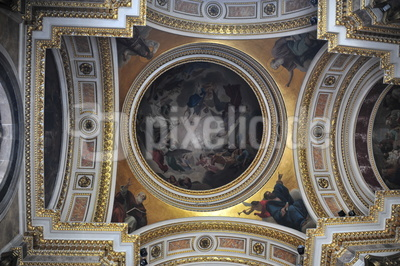 Deckenmalerei Isaakskathedrale St. Petersburg