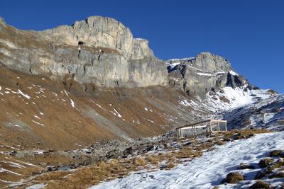Schneearmer Bergwinter Ende 2016
