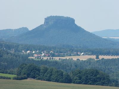 Der lilienstein im Elbsandsteingebirge