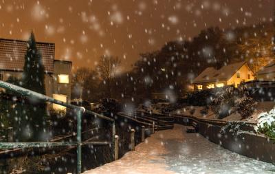 Nächtliche Winterwanderung im Schnee