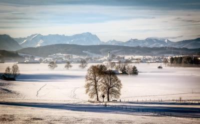 Alpenvorland im Winterkleid