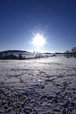 Viel Verkehr im Schnee
