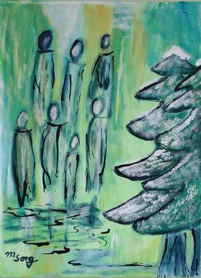 Begegnung im Wald