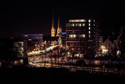 Langzeitbelichtung Bielefeld Adenauerplatz