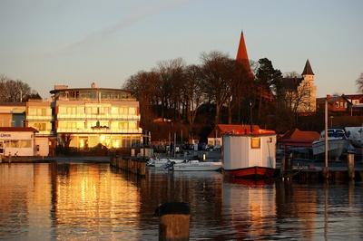 Abendsonne Hafen Altefähr
