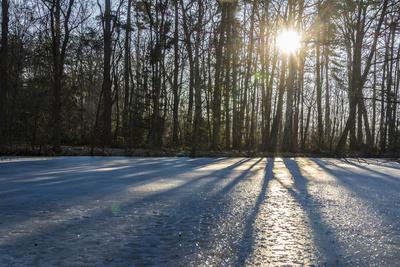 Schatten auf Eis