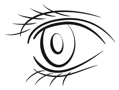 Skizze menschliches Auge