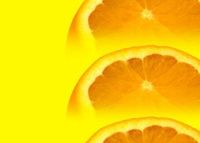Orangen Gelb