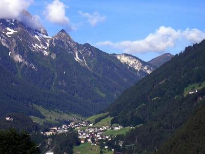 Blick auf Finkenberg bei Mayrhofen