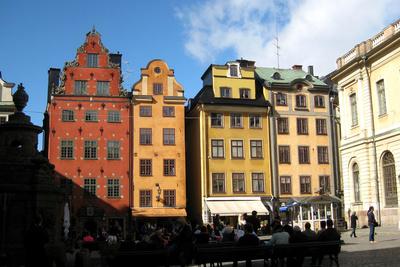 Stockholm - Häuser am Stortorget