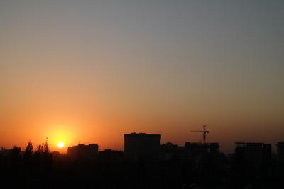 Sonnenuntergang über Bischkek