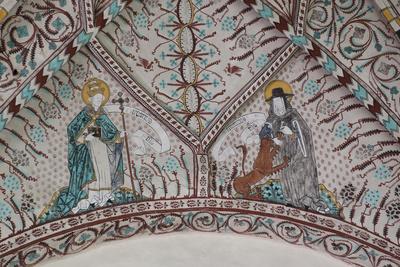 Deckenmalerie in Enångers gamla kyrka