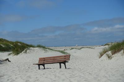 Bank am Strand
