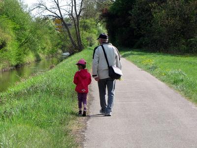 Mit Opa unterwegs