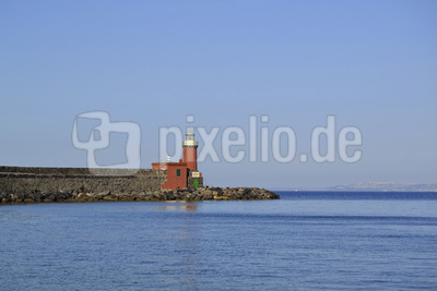 Leuchtturm im Hafen von Ischia