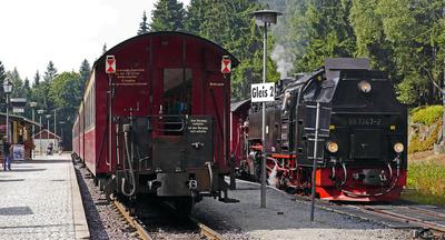 HSB: Zugkreuzung in Schierke