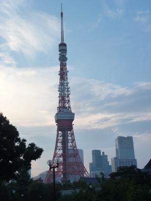 Toyko Tower am frühen Abend