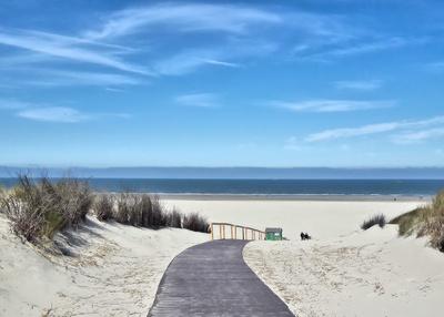 Strand in Sicht