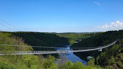 Hängebrücke an der Rappodetalsperre