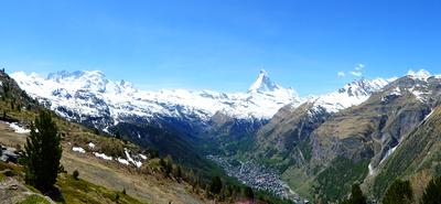 Hochalpenkette über Zermatt