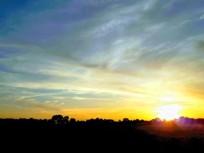 Sunset über Bremen