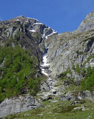 Einstieg zum Baltschieder Klettersteig