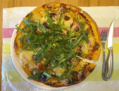 Pizza con Rucola