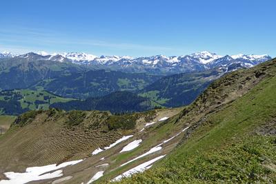 Sicht in die Walliser Alpen
