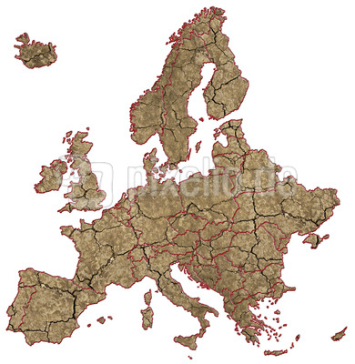 Ausgetrocknetes Europa